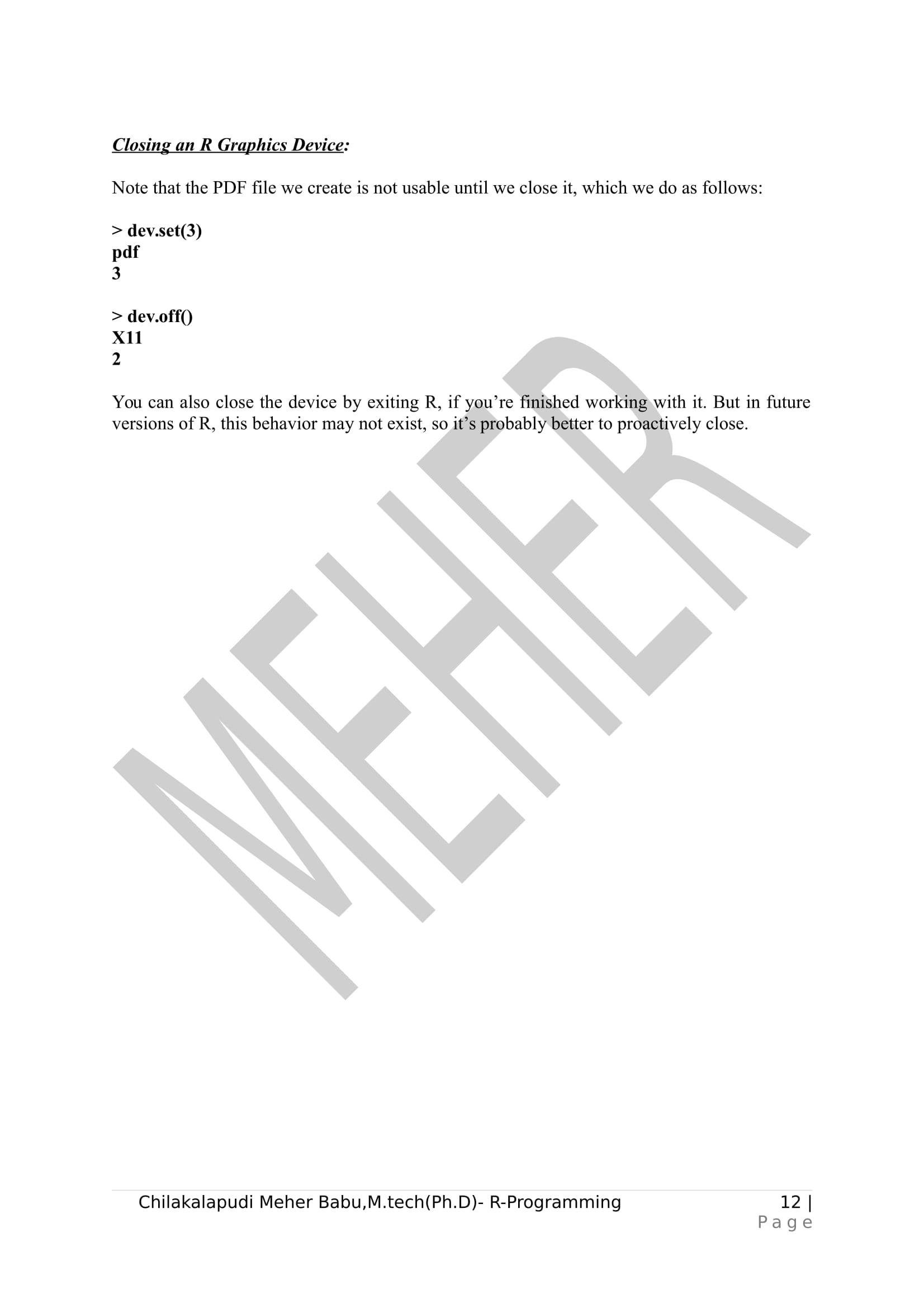 R-prog Unit-IV-12 « Meherchilakalapudi, writes for u  !